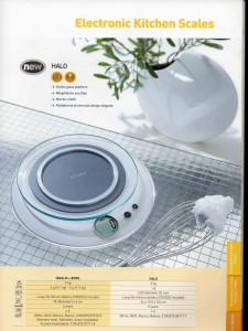 Catalogue Terraillon Export 2006, kitchen scale