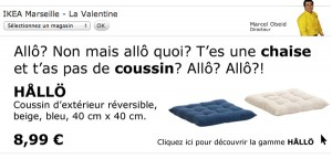 Buzz Ikea Coussin Hallo
